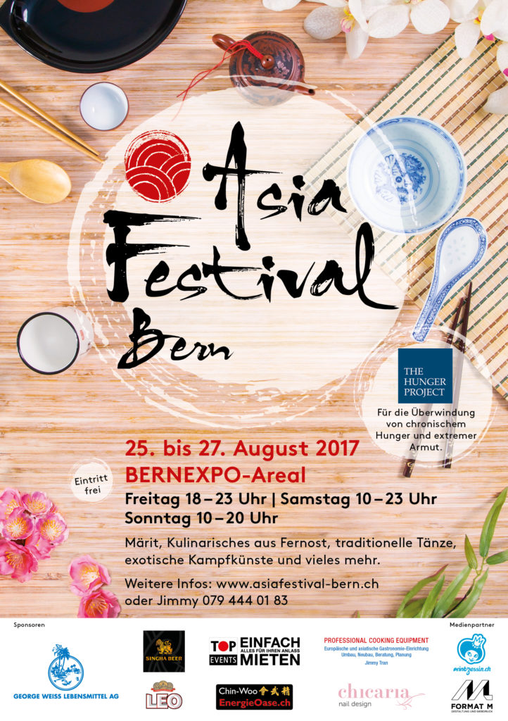 Flyer Asia Festival Bern 2018 Bernexpo-Areal